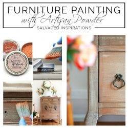 Painting With Artisan Powder Salvaged Dresser txt