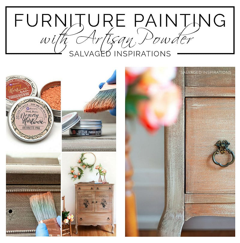 Painting With Artisan Powder Salvaged Dresser txt
