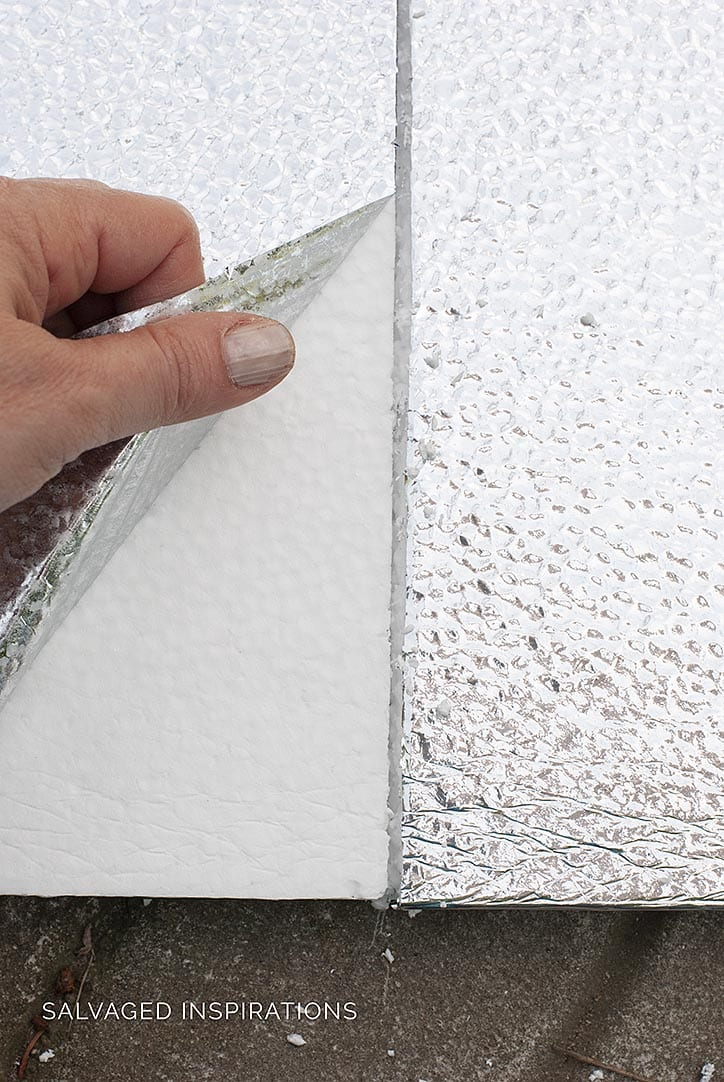 Removing Silver Backing from Durafoam Insulation