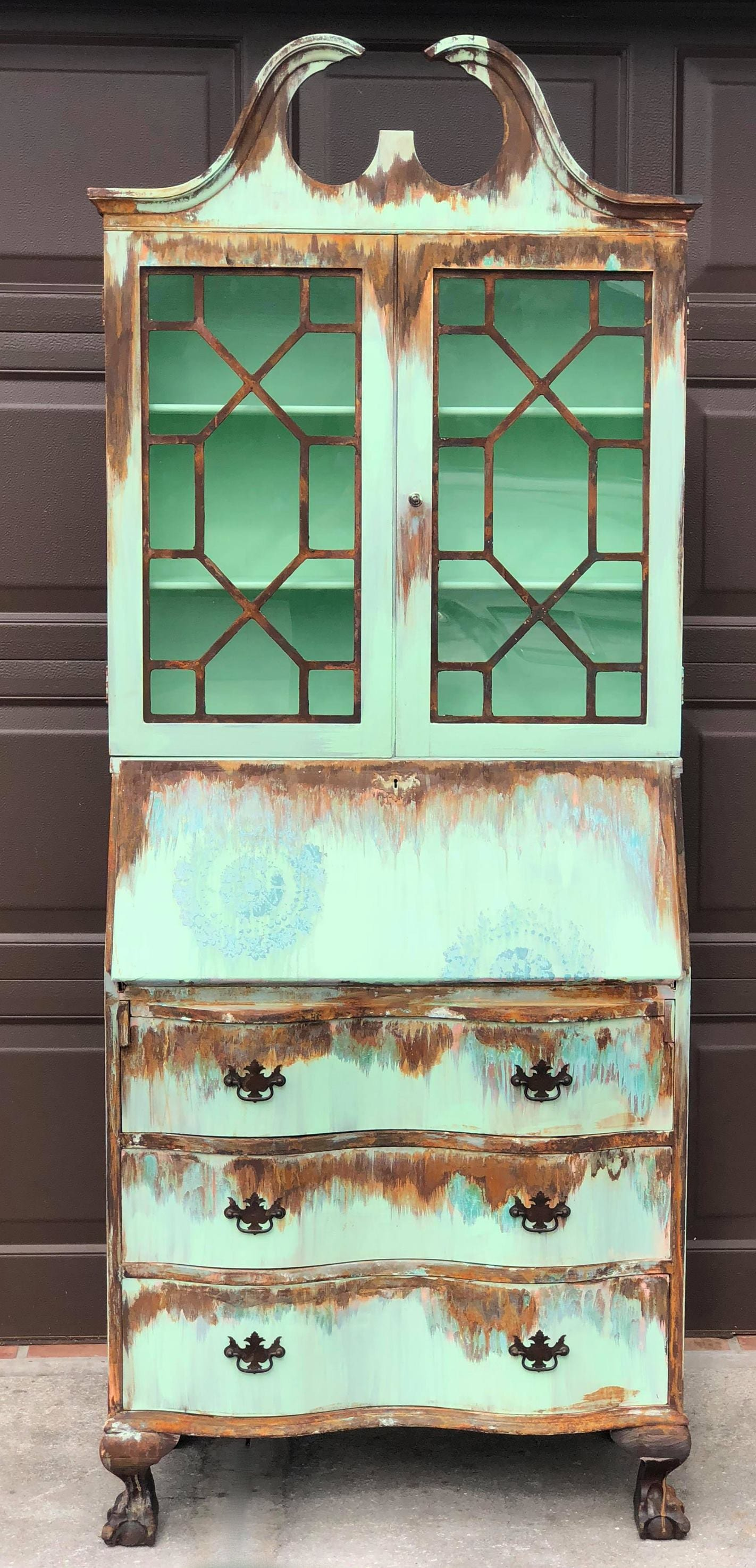Vintage Tide Decor - Rustic Hutch Makeover