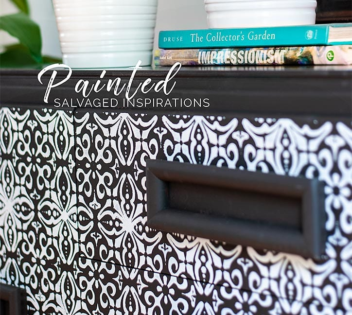 Close Up - Furniture Stenciling w Dixie Belle and ReDesign