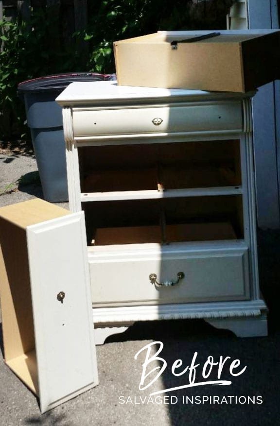 Curb-Shopped Dresser-Before