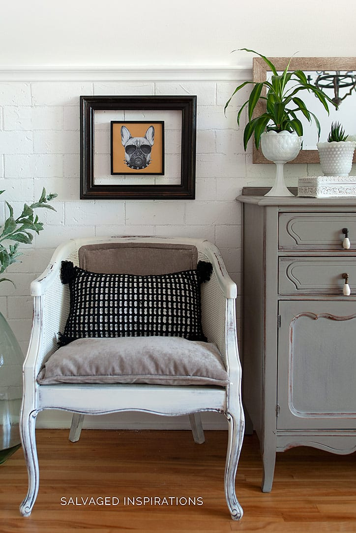 DIY Salvaged Painted & Upholstered Chair
