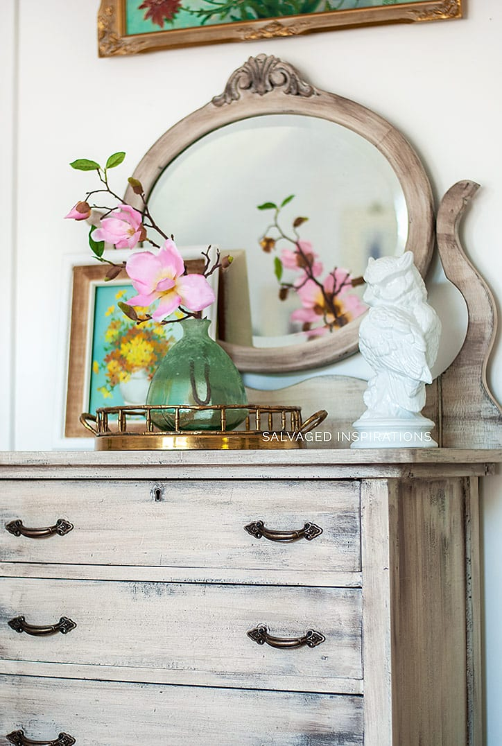 DIY Weathered Wood Dresser Makeove