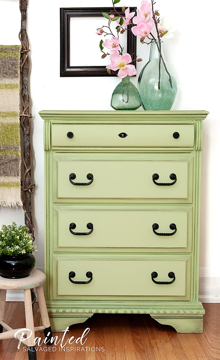 Dixie Belle Farmhouse Green Dresser