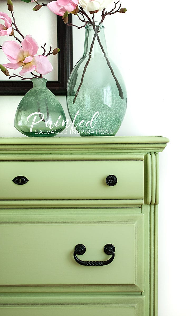 Farmhouse Green Dresser Close Up - SI Blog