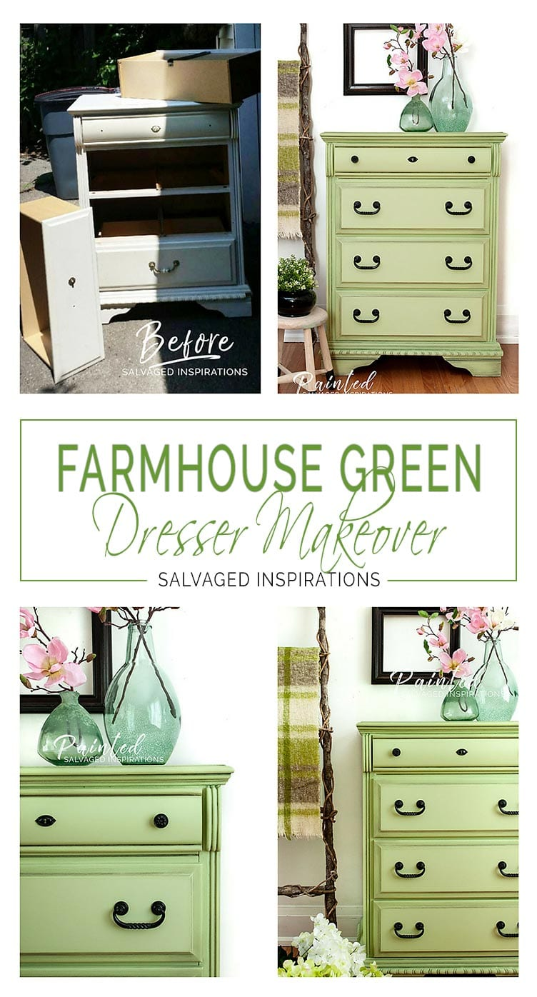 Farmhouse Green Dresser Makeover - SI Blog