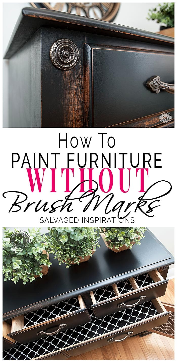 f0cc9c3e05e How To Paint Furniture WITHOUT Brush Marks - Salvaged Inspirations