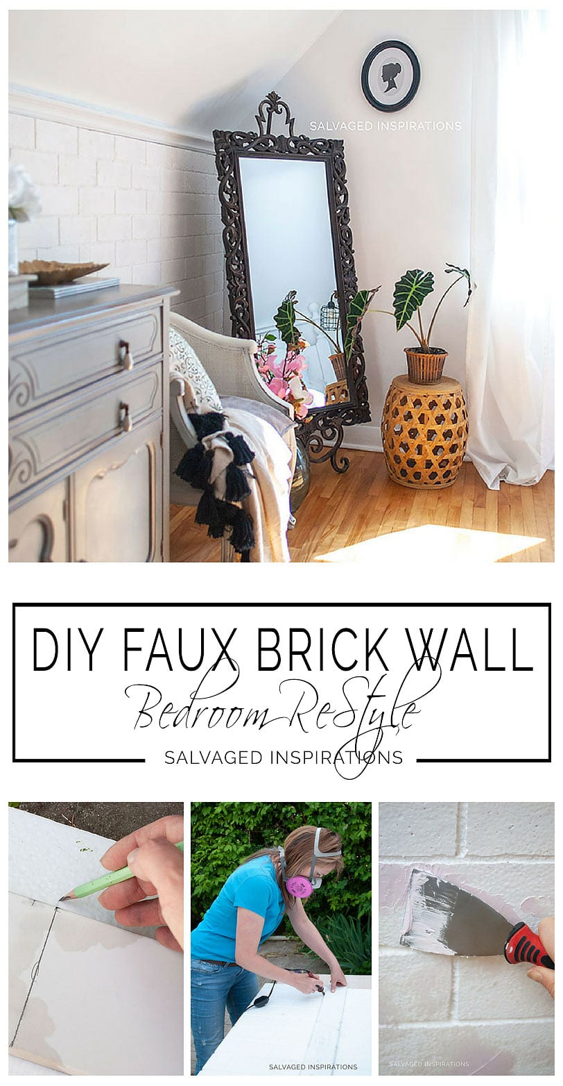 How To Tutorial - Easy DIY Faux Brick Wall