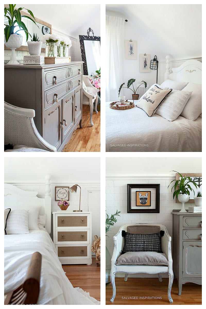 Painted Furniture in Salvaged Bedroom Makeover