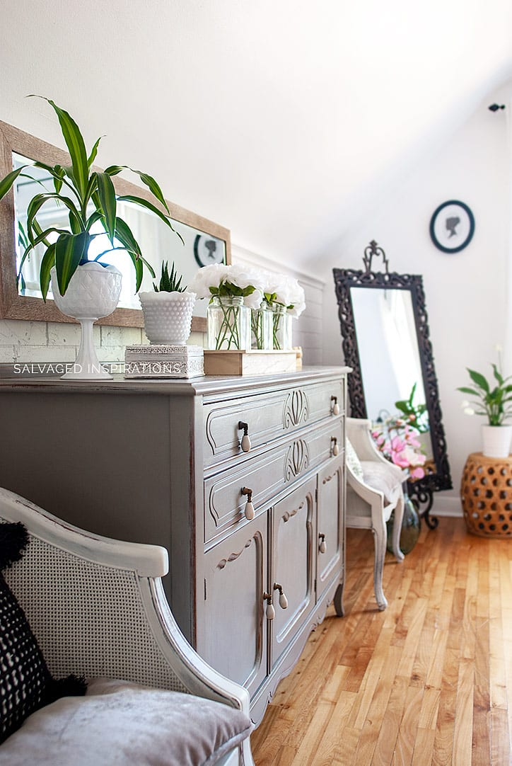 Painted Salvaged Dresser + Chairs _ Bedroom Makeover