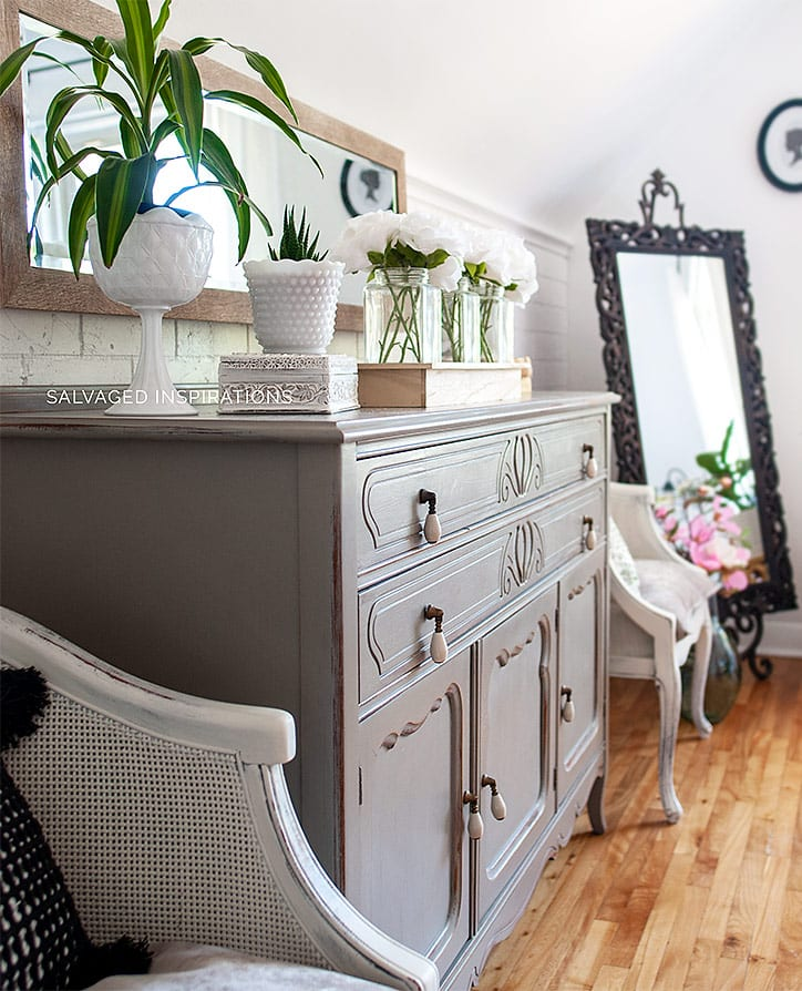 Painted Salvaged Dresser and Chairs _ Bedroom Makeover