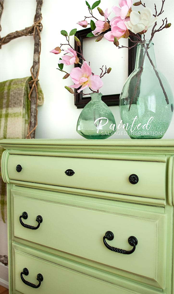 Painted Salvaged Dresser by Salvaged Inspirations