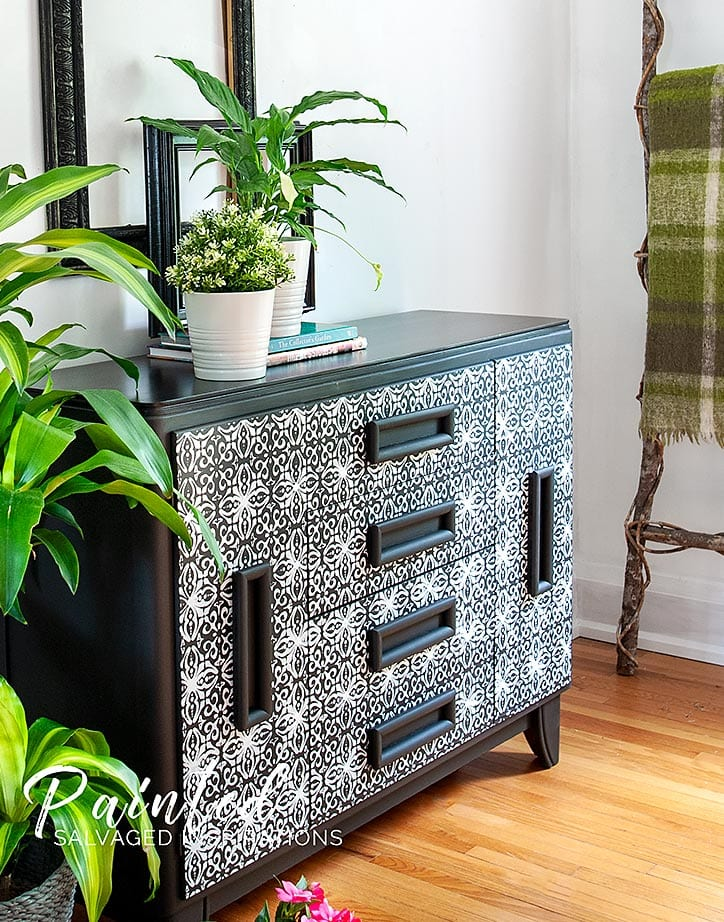 ReDesign French Trellis Stenciling - Painted Furniture