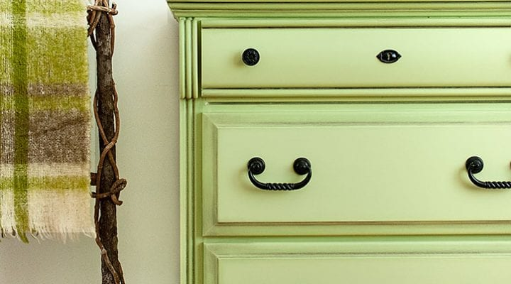 New Farmhouse Green Dresser Makeover