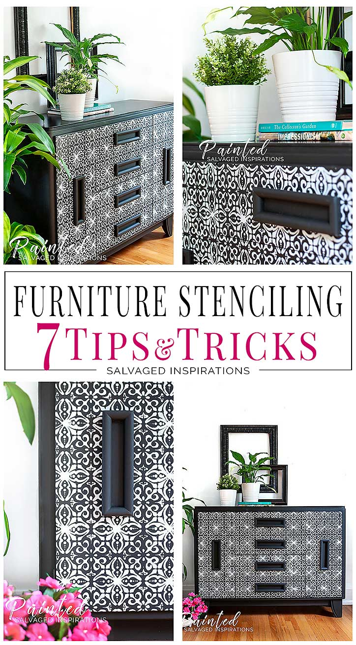 Stenciling Furniture Tutorial - Tips + Tricks