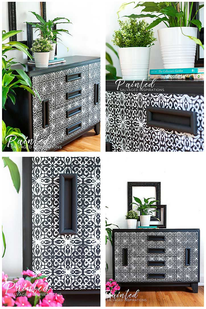Stenciling Furniture Tutorial - Tips and Tricks