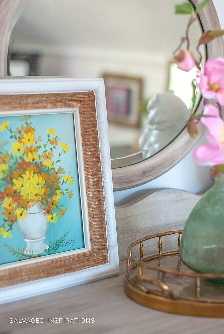 Thrift Store Art in Bedroom Makeover