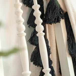 Close up Of Painted Chair Spindles