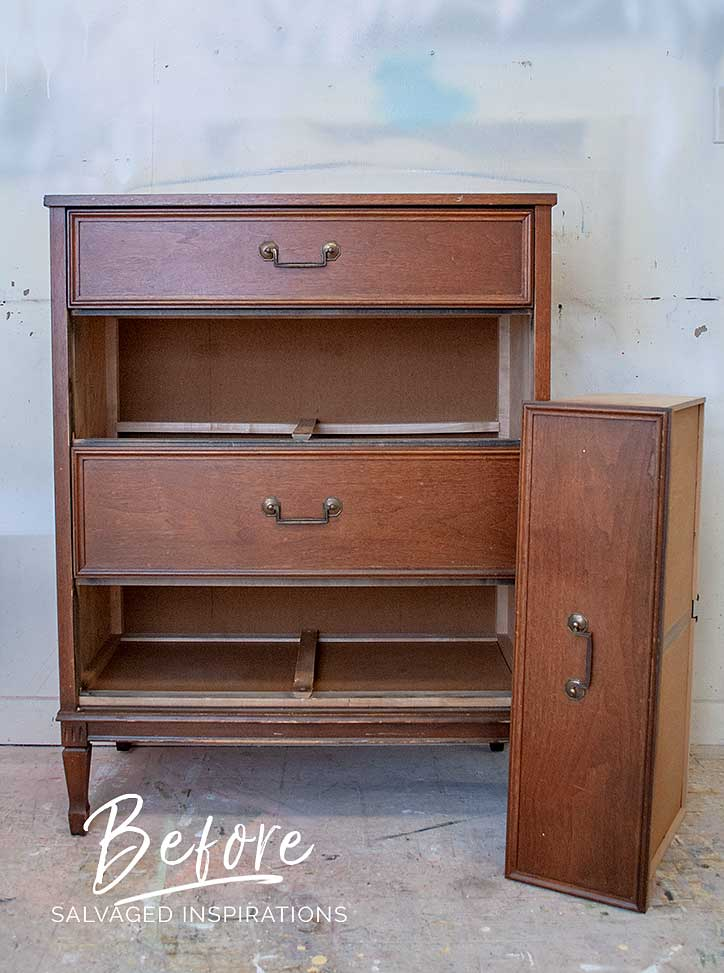 Thrift Store Dresser - Before