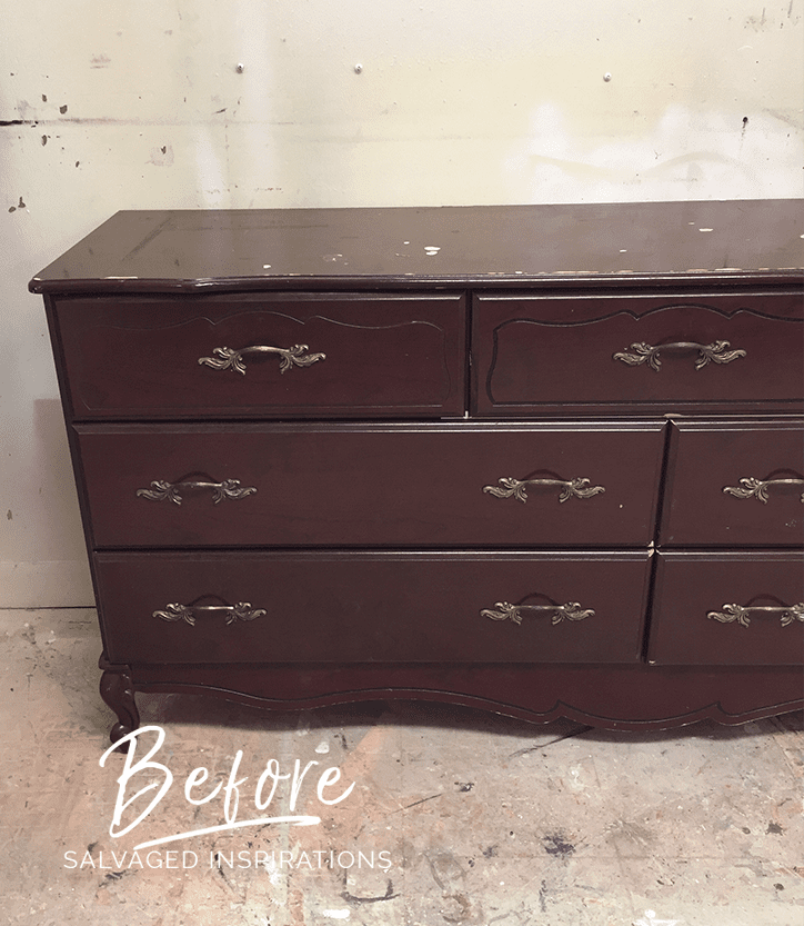Before - Curb Shopped French Provincial Dresser