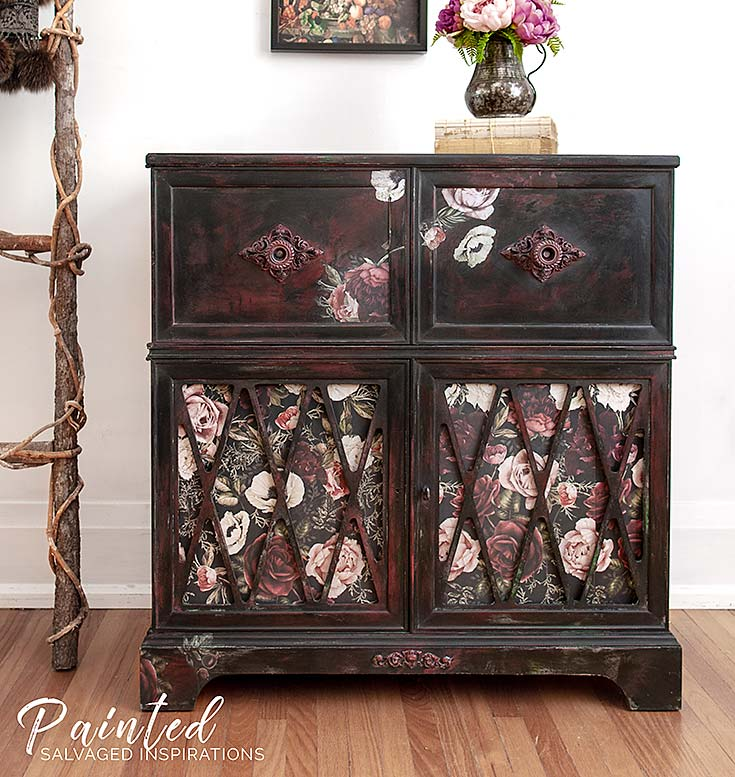 Furniture Transfer Rub - Painted Stereo Cabinet