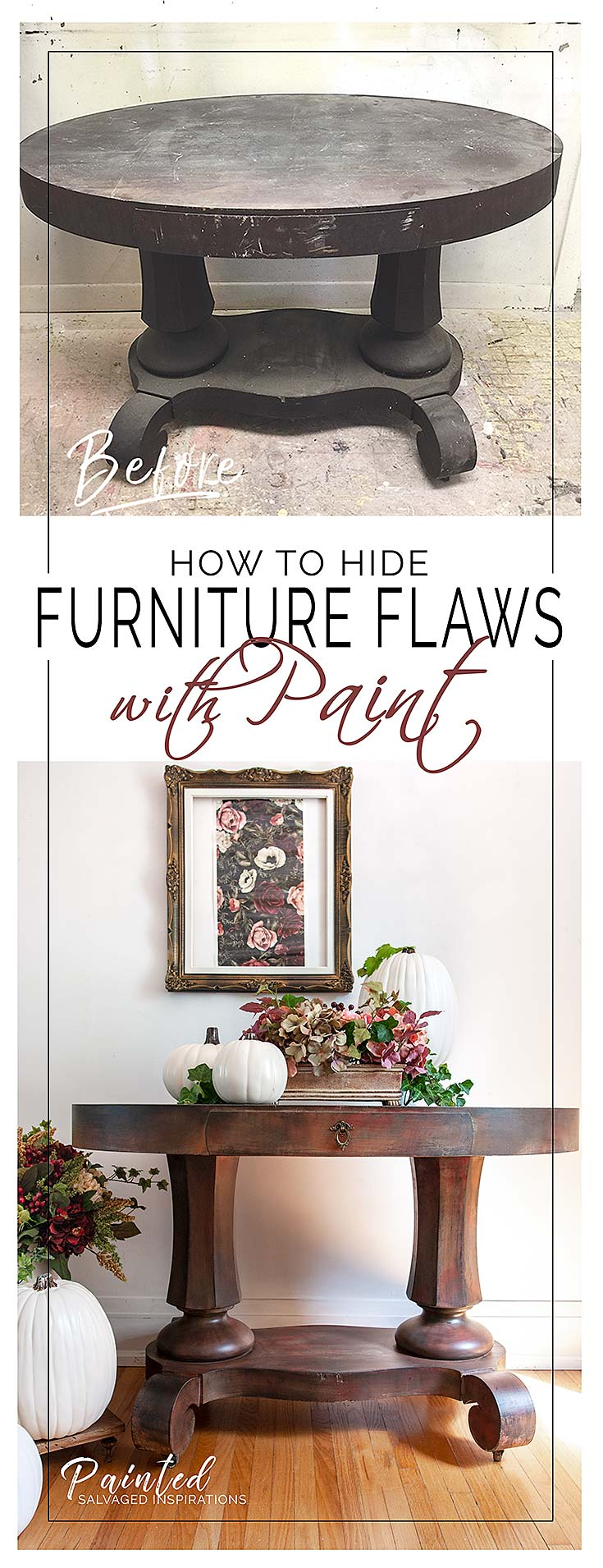 How To Hide Furniture Flaws w Paint