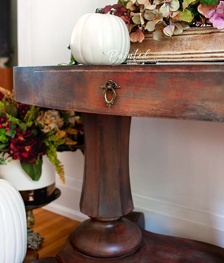 Oval Entryway Table DB - Painted by Salvaged Inspirations