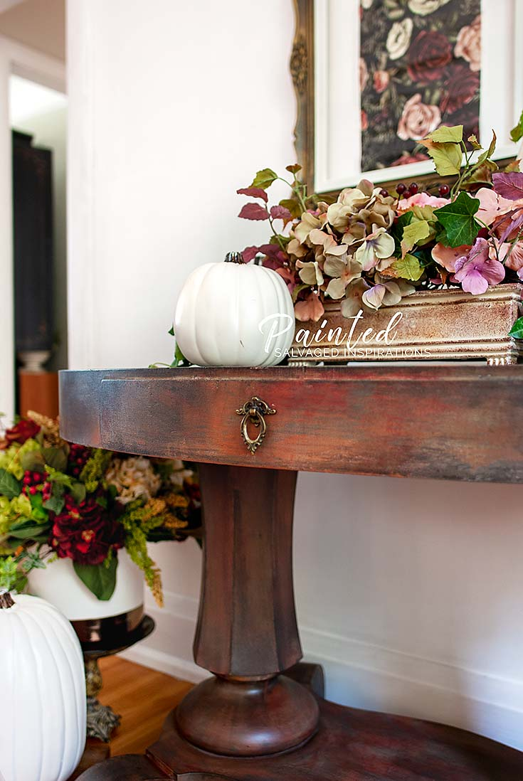 Oval Entryway Table - Painted by Salvaged Inspirations