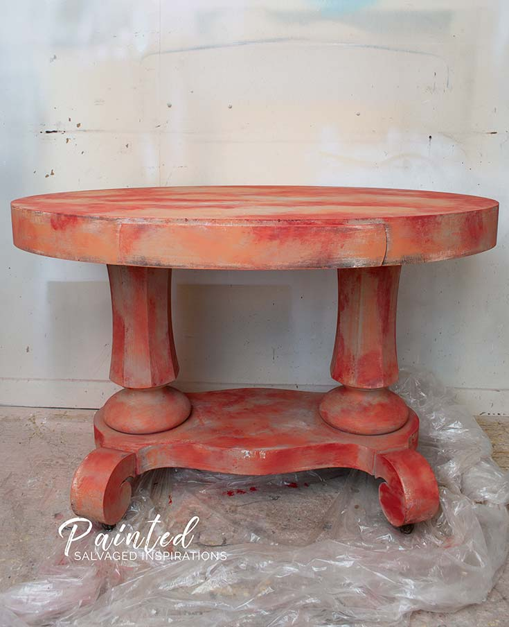 Oval Entryway Table in Painting Progress