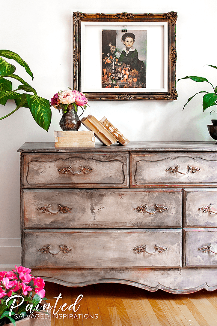 Painted French Provincial Dresser1