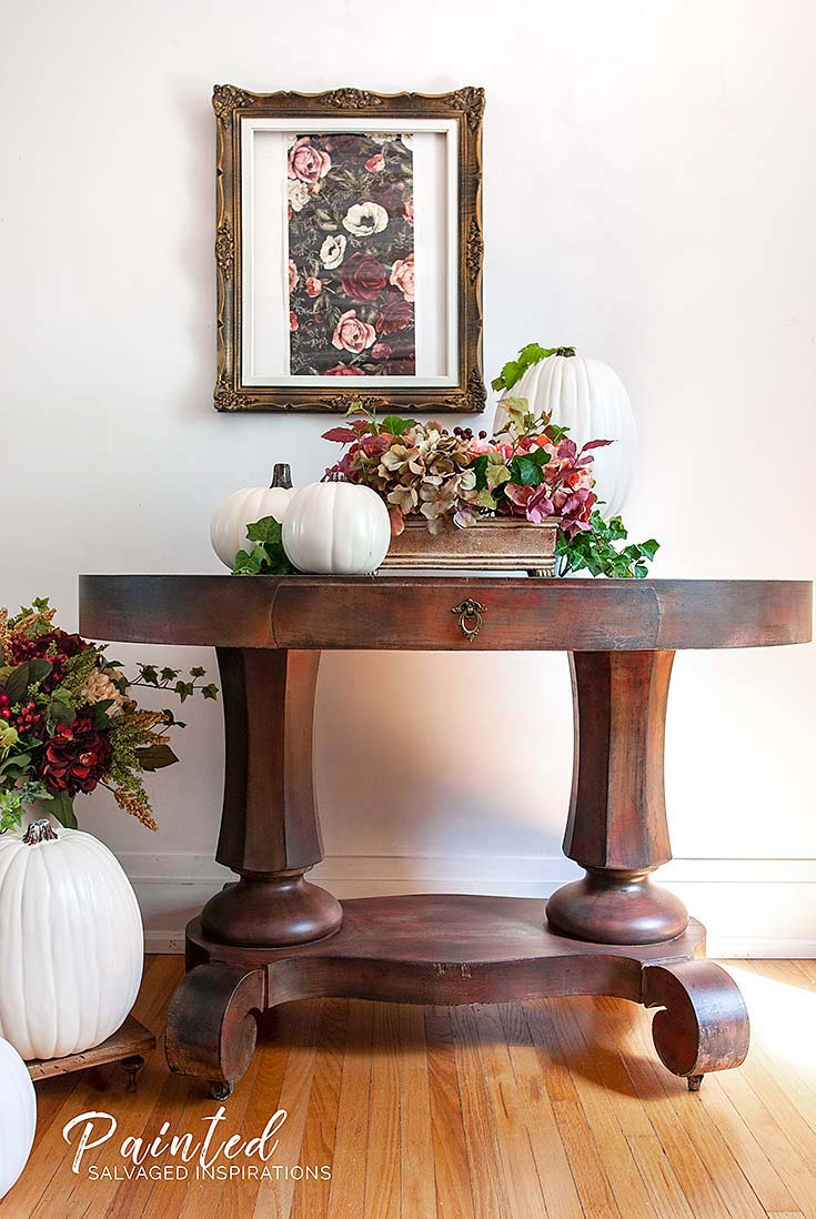 Salvaged Entryway Table - Painted