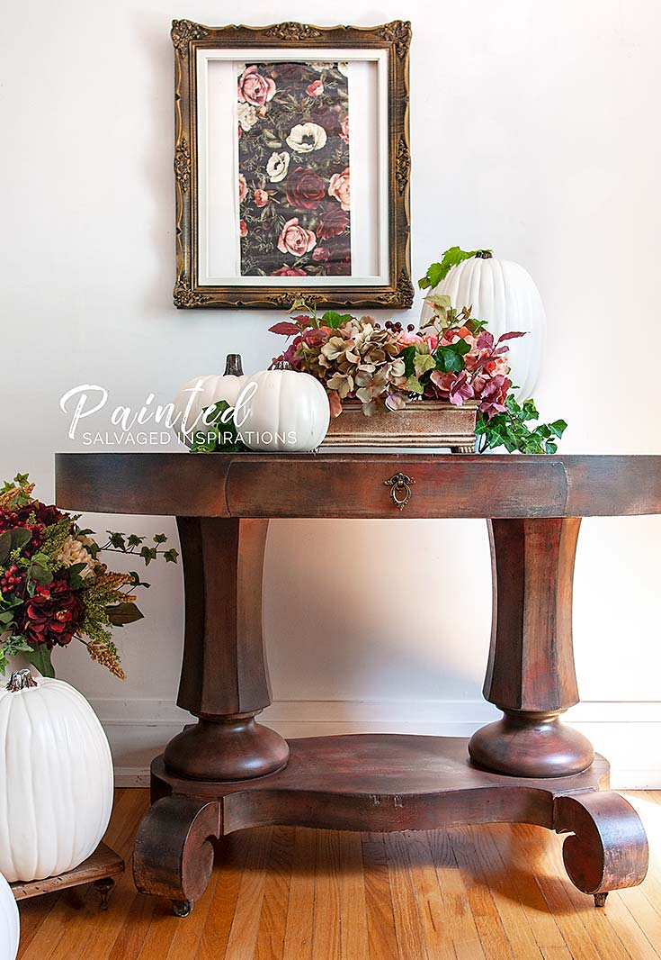 Salvaged Entryway Table SI Blog- Painted