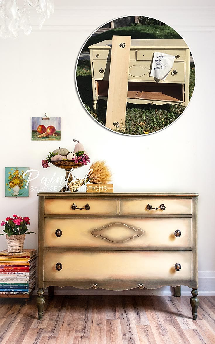 Before and After Curb Shopped Dresser