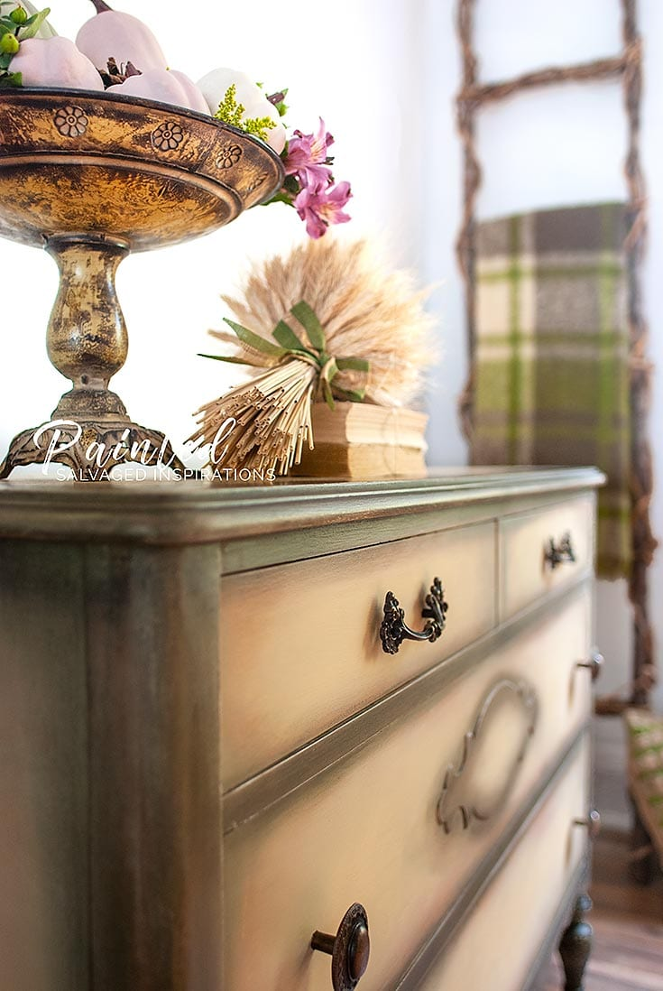 Blended Yellow Dresser Makeover - Painted Furniture