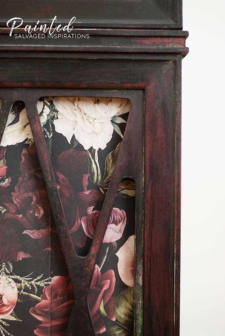 Close Up of Floral Furniture Transfer Seams