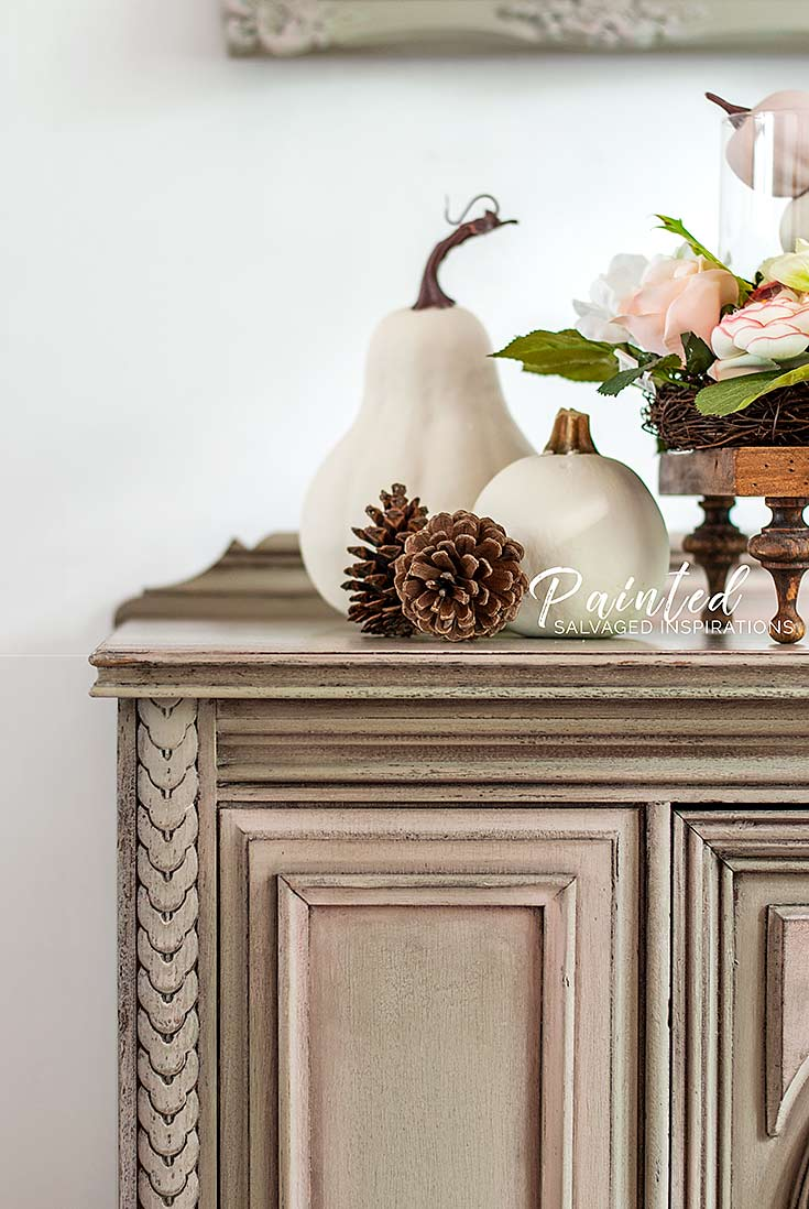 Fall Color Painted Furniture Makeover - Salvaged Inspirations