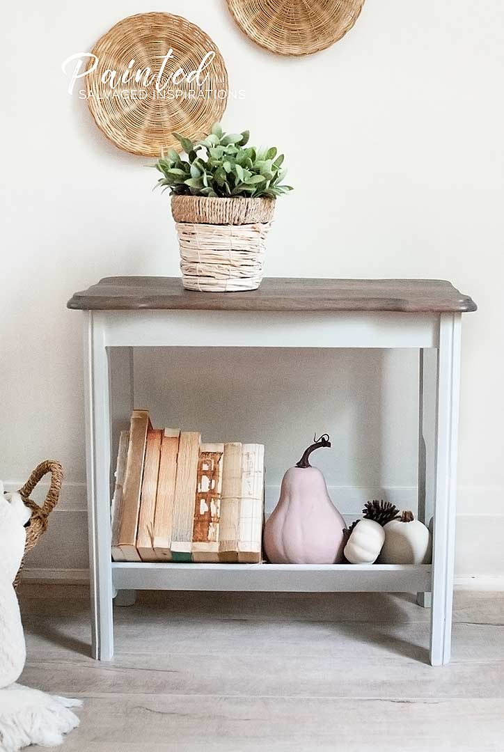 Fall Magazine Rack Table Makeover-siblog