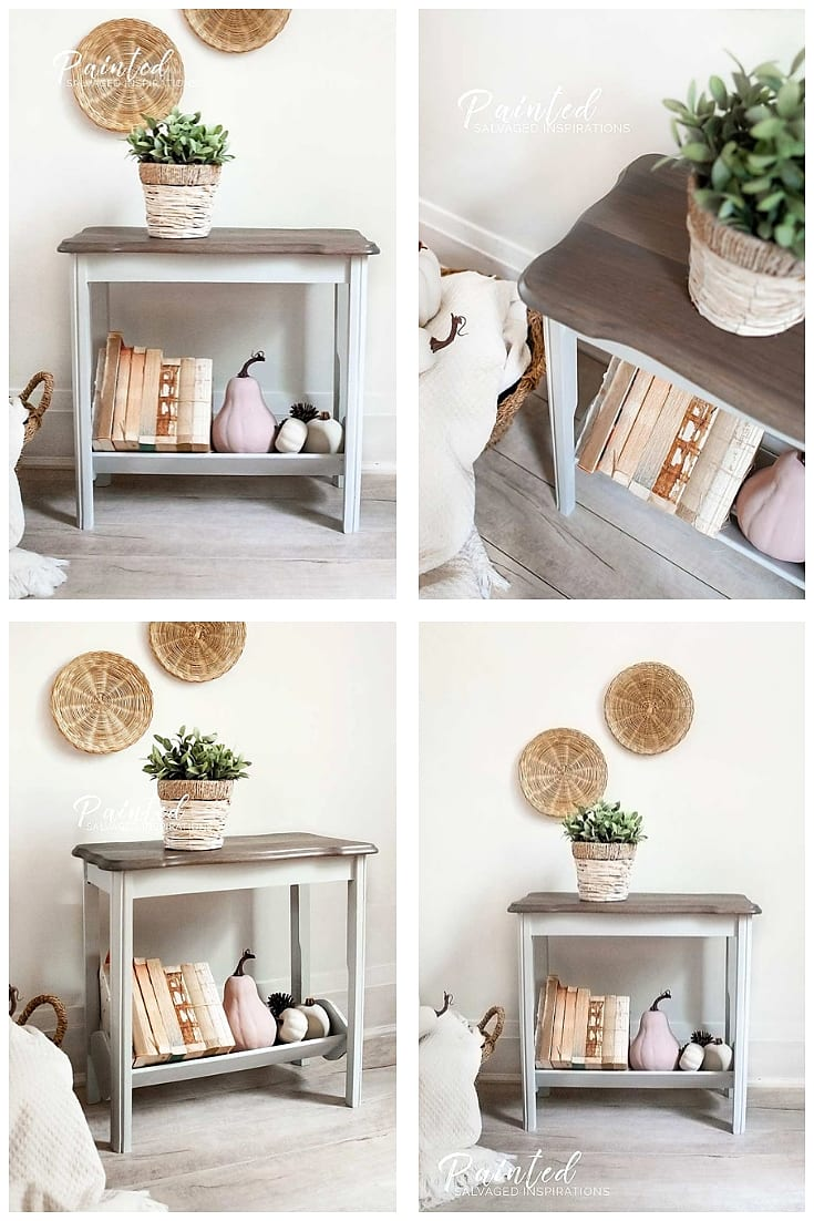 Fall Magazine Rack Table Makeover