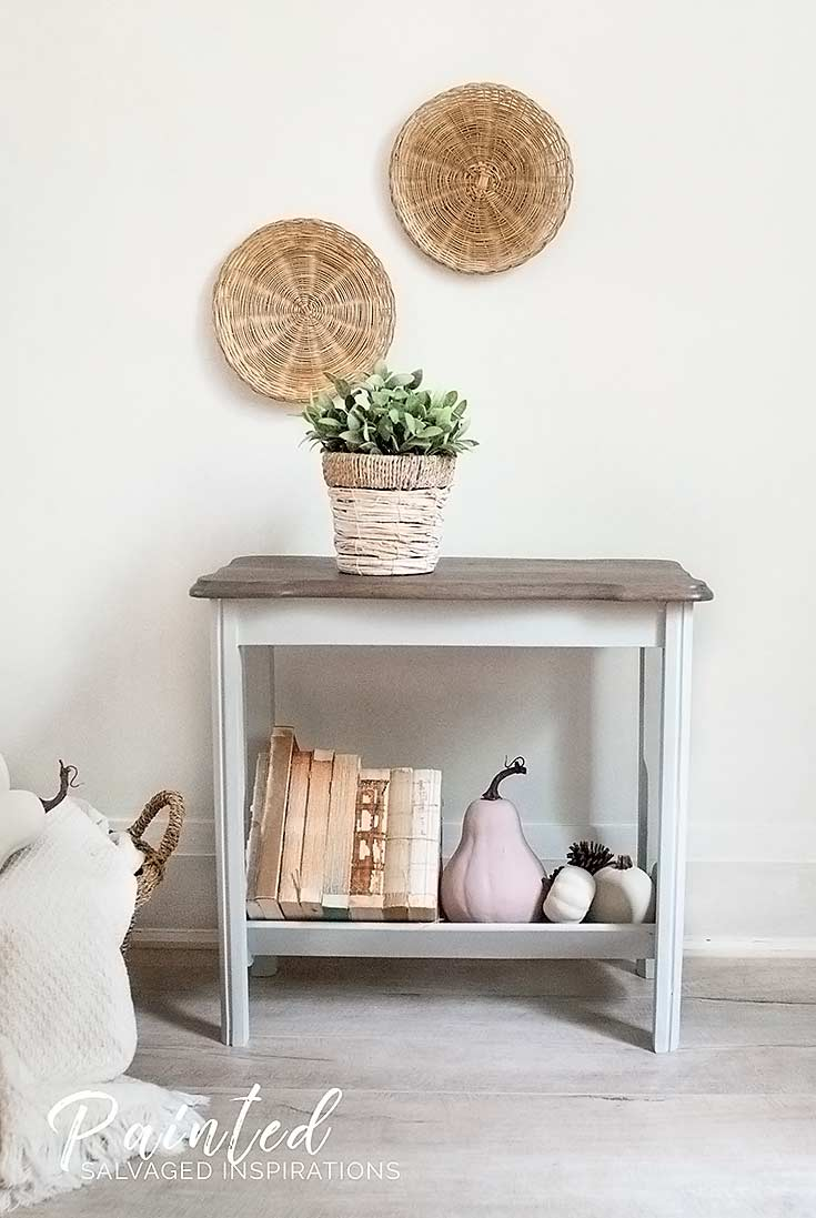 Fall Magazine Rack Table Makeover1