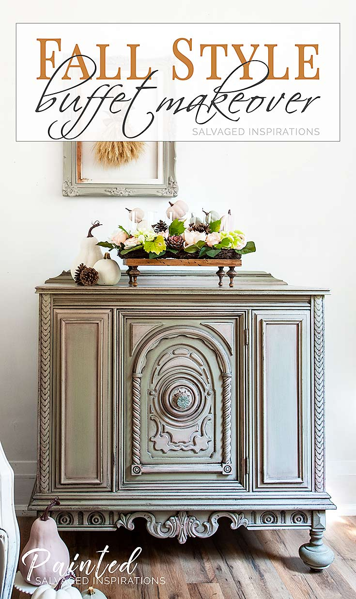 Fall Style Buffet Makeover - Salvaged Inspirations