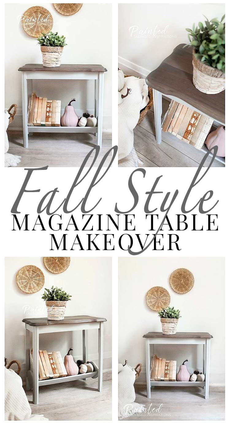 Fall Style Magazine Table Makeover