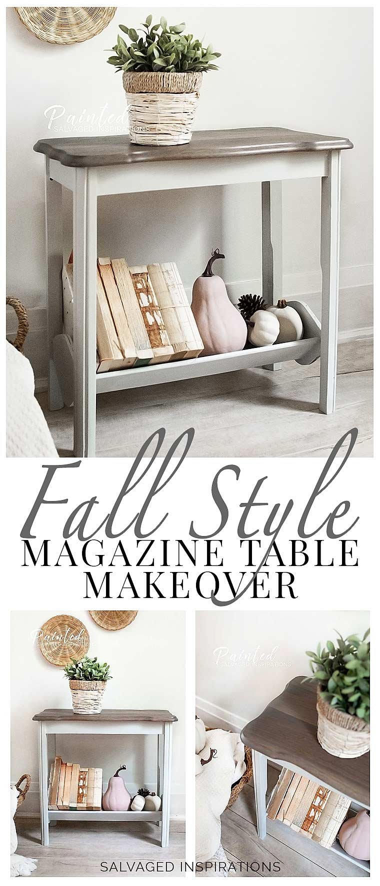 Fall Style Magazine Table Makeover1