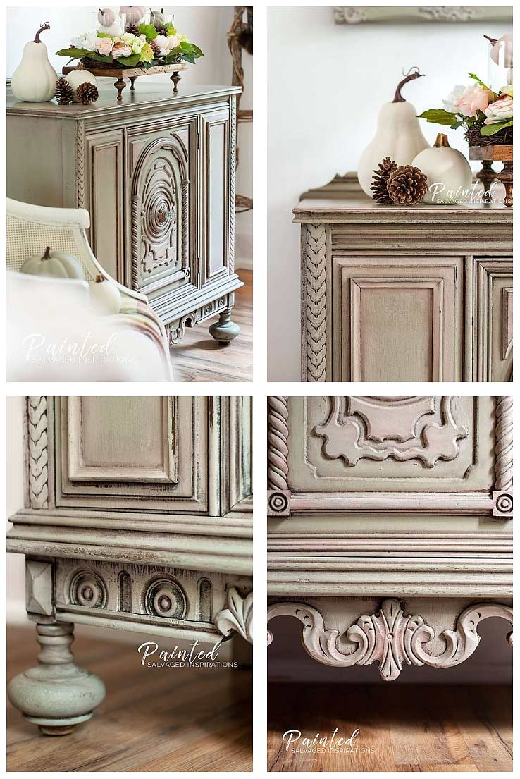 Fall Style Painted Buffet Furniture Makeover - Salvaged Inspirations