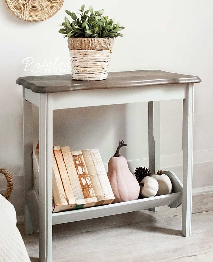 Magazine Rack Table Makeover2