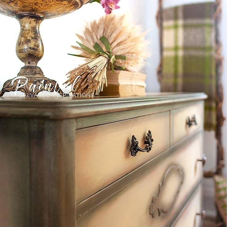 Painted Yellow Dresser Makeover - Painted Furniture