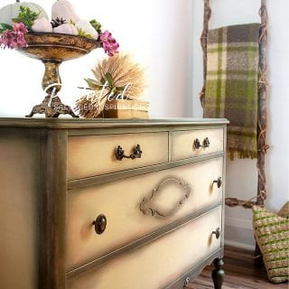 Salvaged Painted Vintage Dresser