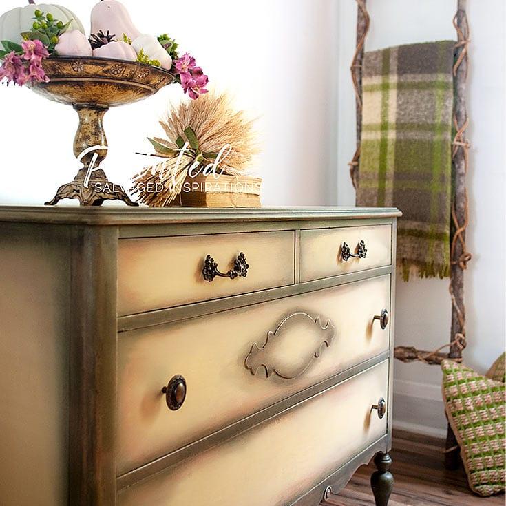 Salvaged Painted Vintage Dresser