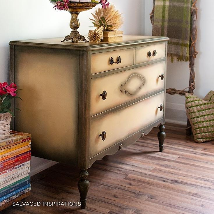Salvaged Yellow Vintage Dresser