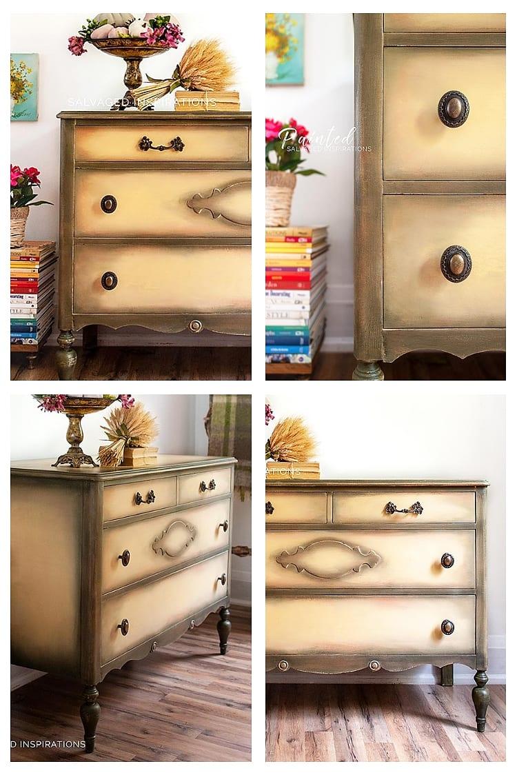 Vintage Salvaged Dresser Collage